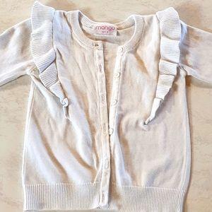 Size 4 Mango white Cardigan/Jacket